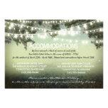 garden lights wedding accommodation cards
