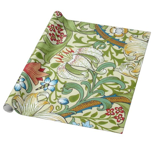 Garden Lily William Morris Fine Vintage Floral Wrapping