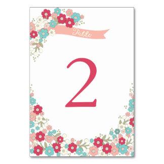 Garden Love Wreath Wedding Table Number Card Table Cards