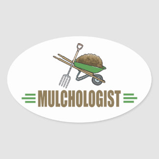 Garden Mulching Oval Sticker
