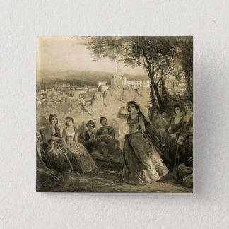 Garden near Tiflis, Georgia, plate 27 from a book 15 Cm Square Badge