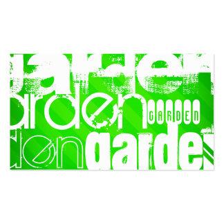 Garden; Neon Green Stripes Pack Of Standard Business Cards