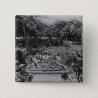 Garden of a Suburban Villa 15 Cm Square Badge