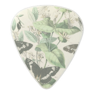 Garden of Butterflies and Flowers Acetal Guitar Pick