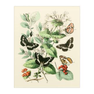 Garden of Butterflies and Flowers Acrylic Print