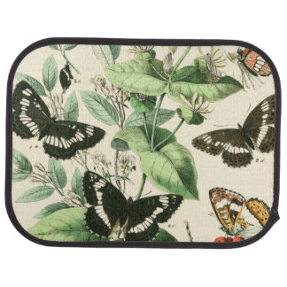 Garden of Butterflies and Flowers Car Mat