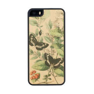 Garden of Butterflies and Flowers Carved® Maple iPhone 5 Slim Case