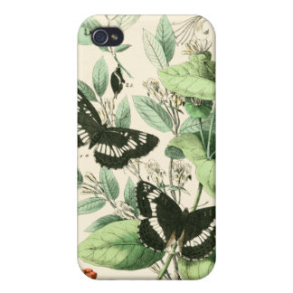 Garden of Butterflies and Flowers iPhone 4 Covers