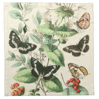 Garden of Butterflies and Flowers Napkin