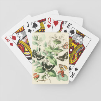 Garden of Butterflies and Flowers Playing Cards