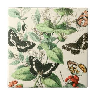 Garden of Butterflies and Flowers Tile