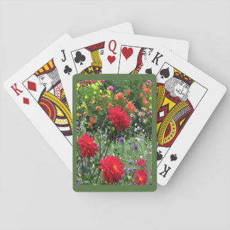 Garden of Dahlia Flowers Playing Cards