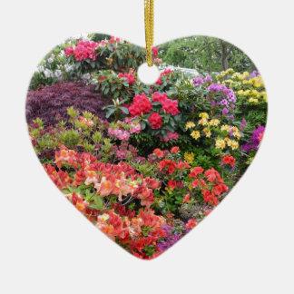 Garden of Delights Ceramic Heart Decoration