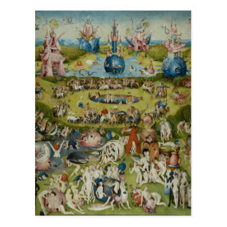 Garden of Earthly Delights, 1490-1500 Postcard