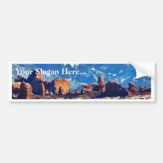 Garden Of Eden At Arches National Park Bumper Sticker