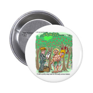 Garden Of Edun Census Funny Cards Tees Gifts 6 Cm Round Badge