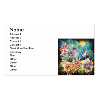 Garden Of Flowers and Butterflies Double-Sided Standard Business Cards (Pack Of 100)