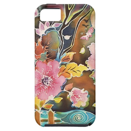Garden Of Flowers by the Lake Tough iPhone 5 Case