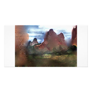 garden of gods colorado abstract personalised photo card