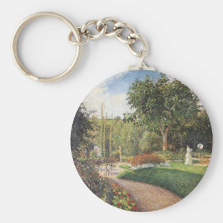 Garden of Les Mathurins at Pontoise by Pissarro Key Chain
