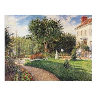 Garden of Les Mathurins at Pontoise by Pissarro Postcard