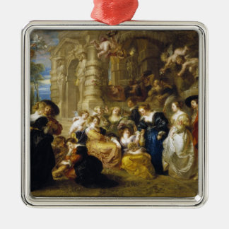 Garden of Love Peter Paul Rubens  masterpiece Silver-Colored Square Decoration