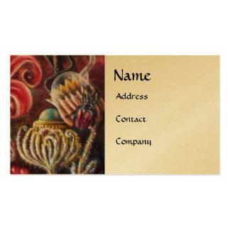 GARDEN OF MELISSA .detail gold Business Card Template