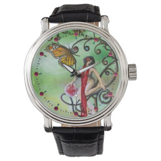 GARDEN OF MELISSA Magic Butterfly and Lady in Red Watch