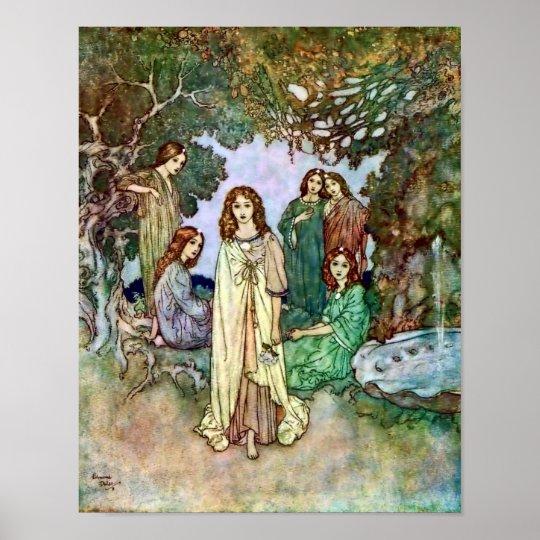 Garden of Paradise Edmund Dulac Art Poster