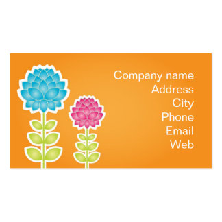Garden of peonies business cards