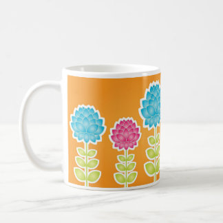 Garden of peonies mug