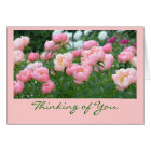 GARDEN OF PEONIES / THINKING OF  YOU CARD