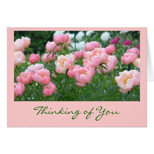 GARDEN OF PINK PEONIES CARD