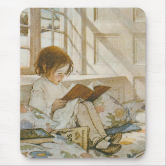 Garden of poem of child mouse pad