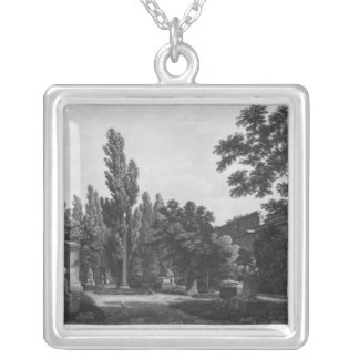 Garden of the cloister, Musee des Monuments Silver Plated Necklace