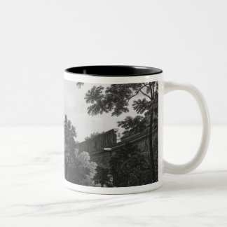 Garden of the cloister, Musee des Monuments Two-Tone Coffee Mug