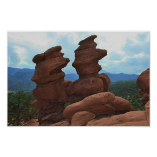 Garden Of the God s Twin Siamese Photographic Print