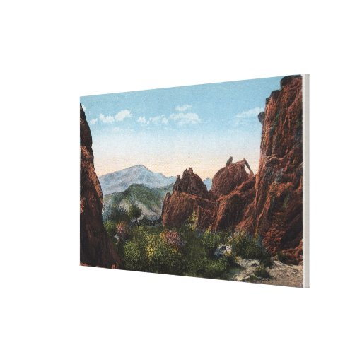 Garden of the Gods, Colorado - Seal and Bear Stretched Canvas Print