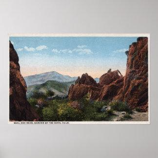 Garden of the Gods, Colorado - Seal and Bear Poster