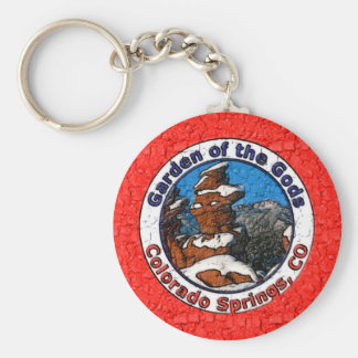 Garden of the Gods, Colorado Springs, CO Basic Round Button Key Ring