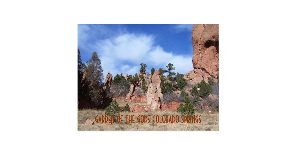 Garden of the gods colorado springs post card postcard for T shirt printing in colorado springs