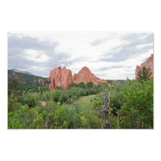 Garden of the Gods Monolith and Plains Photo Print