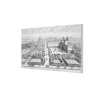 Garden of the Grand Duke of Tuscany on the Monte P Stretched Canvas Print