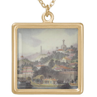 Garden of the Imperial Palace, Peking, from 'China Gold Plated Necklace