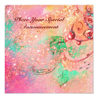 GARDEN OF THE LOST SHADOWS / BUTTERFLY MONOGRAM 13 CM X 13 CM SQUARE INVITATION CARD