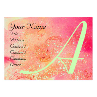 GARDEN OF THE LOST SHADOWS -BUTTERFLY MONOGRAM BUSINESS CARD TEMPLATE