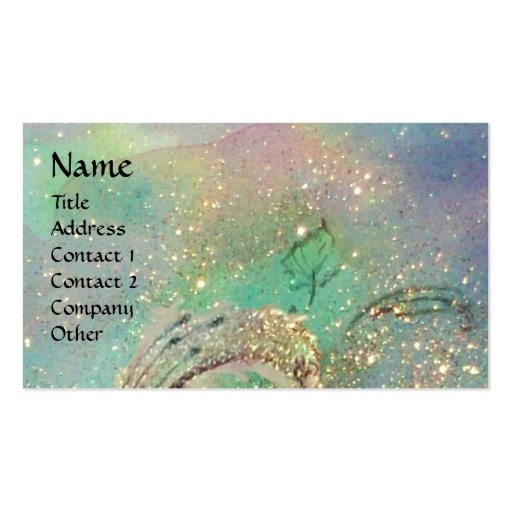 GARDEN OF THE LOST SHADOWS BUTTERFLY MONOGRAM teal Business Card