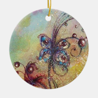 GARDEN OF THE LOST SHADOWS- BUTTERFLY PLANT ROUND CERAMIC DECORATION