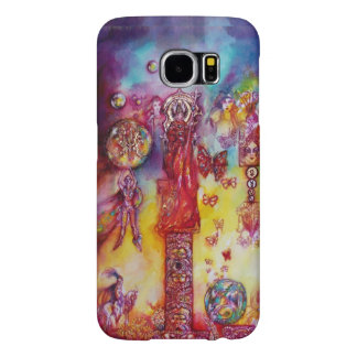 GARDEN OF THE LOST SHADOWS,FAIRIES AND BUTTERFLIES SAMSUNG GALAXY S6 CASES