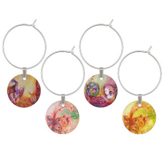 GARDEN OF THE LOST SHADOWS/FAIRIES AND BUTTERFLIES WINE GLASS CHARM